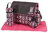 Disney Minnie Mouse 4 tlg. Wickeltasche im Messenger-Stil in grau/rosa