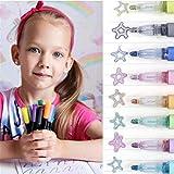 shengyuefeng Magic Pens - the Creative Employment for Children 8 Colors Fashion, Marqueurs Métalliques à Contour Automatique, Stylos à Contour Double Ligne Scintillants, Ensemble Marqueurs
