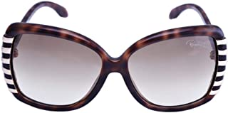 Roberto Cavalli Sunglasses For Women Brown Butterfly Frame Made Of Acetate