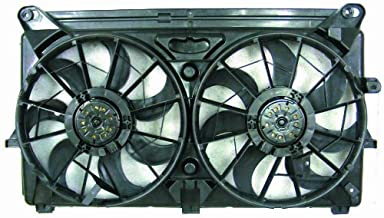PACIFIC BEST INC. Dual Radiator and Condenser Fan Assembly For/Fit GM3115212 05-09 Chevrolet Silverado Avalanche Cadillac Escalade