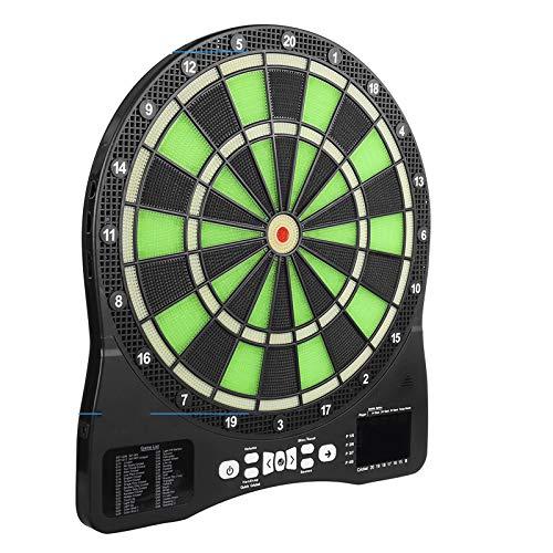 TWW Eingebauter Leuchtender Zielblock, Elektronische Soft-Dart-Zielplatte, Automatische Wertung, Mehrere Spielmethoden, Sicherheitsmarke Für Die Sicherheit in Innenräumen
