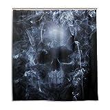 My Daily Smoke Skelett Totenkopf Vorhang für die Dusche 167,6x 182,9cm, schimmelresistent und Wasserdicht Polyester Dekoration Badezimmer Vorhang