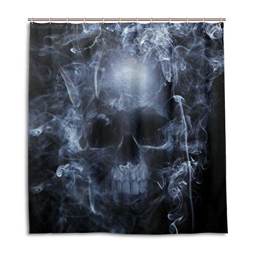My Daily Duschvorhang mit Totenkopf-Motiv, 168 x 183 cm, schimmelresistent & wasserdicht, Polyester, Dekoration für Badezimmer