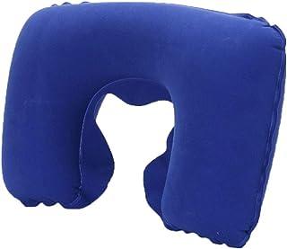 GOIOD ネックピロー U型まくら 携帯枕 洗えるカバー 旅行用品 飛行機 トラベル 収納ポーチ付 (ブルー)