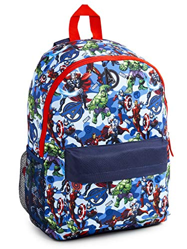 Marvel Avengers School Bag, Official Back Pack for Boys Teenagers, with Captain America Iron Man...
