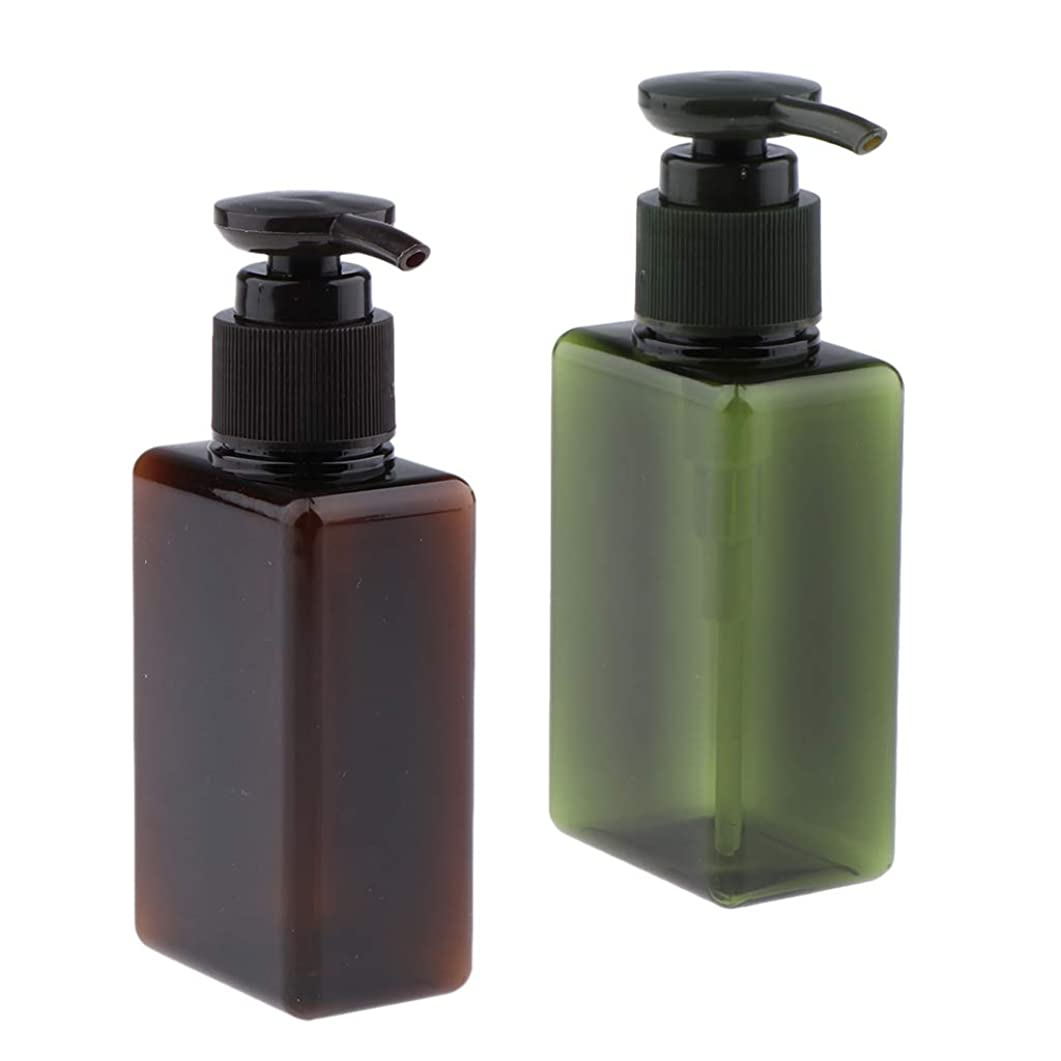 陽気なセメントガードCUTICATE ポンプディスペンサーボトル 詰替え容器 化粧品ボトル シャンプー容器 ローションボトル 2個