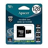 Apacer アペイサー AP128GMCSX10U1-J microSDXC UHS-I Class10 128GB 日本アペイサー国内3年保証品