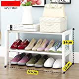 DNSJB Estante For Zapatos Almacenamiento De Madera Banco Blanco Estante Apilable Pequeño De 2 Niveles Organizador con Asiento For Pasillos Ahorro De Espacio Estante For Zapatos