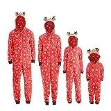 Weihnachten Familie Pyjamas Outfit Schlafanzug Nachtwäsche Damen Herren Baby Säugling Family Kleidung Zuhause Matching Set Xmas, Jungen Mädchen Kapuze Strampler Overall (Kid,4T)
