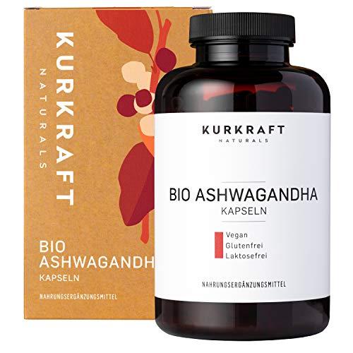 Kurkraft Original Bio Ashwagandha (240 Kapseln mit je 660mg) - hochdosiert - Echte indische...