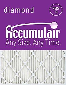 Accumulair Diamond 20x25x1  19.5x24.5  MERV 13 Air Filter/Furnace Filters  6 pack