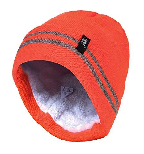 HEAT HOLDERS - Herren neon reflektierend Arbeit Winter Thermo Innenfutter mütze Beanie (One Size, Hi Vis Orange)