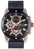 Daniel Steiger Stratus Men's Watch - Men's Luxury Wrist Watch - Milanese Mesh Watch Strap Band - Day Date Calendar - Water Resistant - Luxury Watch Box (Black)