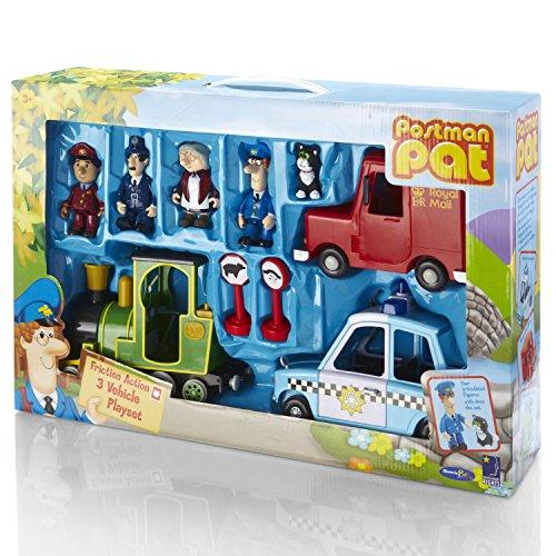 ChoicefullBargain De Bonne qualité Postman Pat Friction Action 3Véhicule Playset