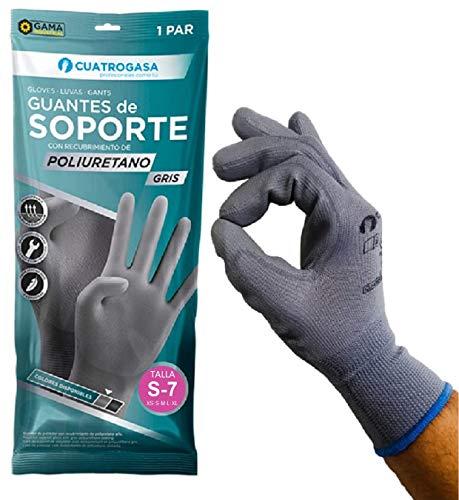 Guantes trabajo【talla 7/S 12 pares】 PU gran agarre y destreza, guantes mecanico,...
