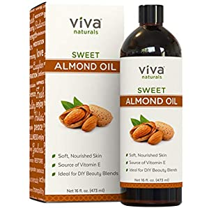 Almond Oil (16 oz); Sweet Almond Oil for Skin or Almond Oil for Hair, The Perfect Natural Body Oil for Women, Great as Unscented Massage Oil