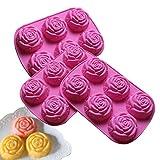 Baker Depot Silikonform für Mousse, Kuchen, Pudding, Schokolade, Gelee, Backwerkzeug,...