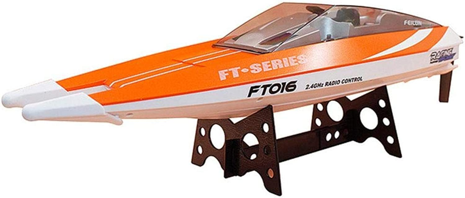 Generic Rc Racing Boat Speedboat Swimming Pool Party Outdoors Funny Efficient Durable orange