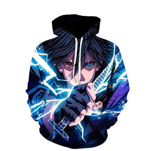 Zcbm Hombre Mangas Largas Sudadera con Capucha 3D Impresa Naruto Casual Sweatshirt Adolescentes Hoodie Tops