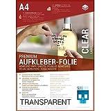 SKULLPAPER® Klebefolie transparent zum aufkleben & selbst gestalten - für Inkjet Tintenstrahldrucker (A4-10 Blatt)
