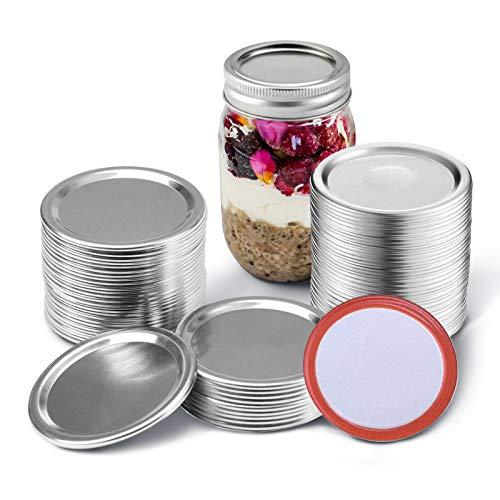 ball lids, Split-Type Lids Leak Proof Canning Jar Lids,Regular Canning Jar Lids for Regular(24 Pieces Lids, 70mm)