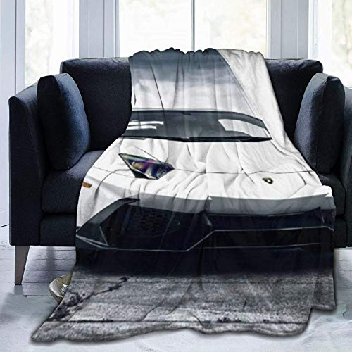 Manta personalizada personalizada, coche deportivo de lujo, suave y cómoda manta de felpa para sofá, dormitorio, viajes, manta mullida de 102 x 122 cm