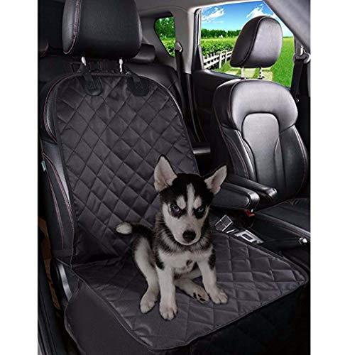 Zgywmz Pet Supplies Haustier-Auto-Sitzkissen Einsitz Auto Front Row Hund vorne Einsitz Auto wasserdichte Sitzabdeckung Folding Automatte 50 * 105CM (schwarz) Anti-Blockier-System