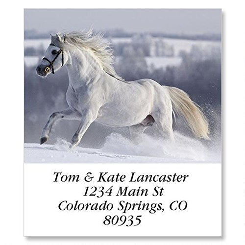 for Horse Lovers Self-Adhesive, Flat-Sheet Select Address Labels (12 Designs)