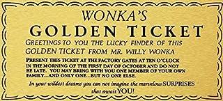 LynnYo22 Willy Wonka Golden Ticket - Cartel de Metal para Pared, diseño de Charlie Chocolate Factory, 30,5 x 40,6 cm