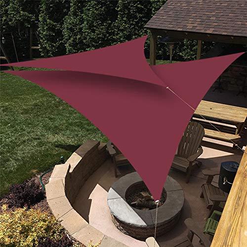 Tabaño De La Vela De La Sombra del Sol Rojo del Vino, 98% De Protección UV con Kit De Fijación De Cuerdas para Instalaciones Al Aire Libre Y Actividades Patio Garden Backyard Sun Shade,3x3x4.3m