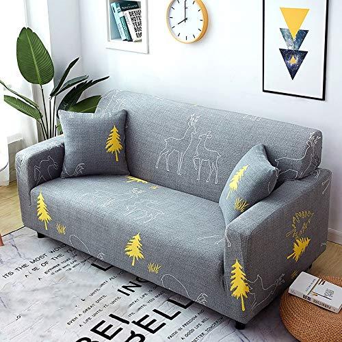 weichuang Funda de sofá elástica seccional elástica para sofá de sala de estar, funda de sofá en forma de L, funda de sofá de 1/2/3/4 plazas (color: 2, especificación: 1 juego de 90 140 cm)