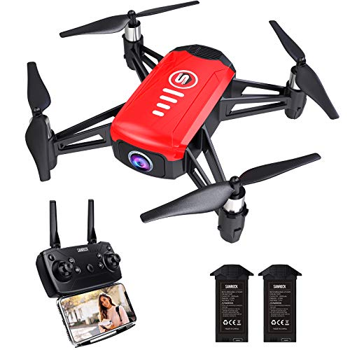 SANROCK H818 Mini Drones for Kids, RC Quadcopter with 720P Real-time Camera, Support Altitude Hold, Route Mode, Gesture Control, Headless Mode, One Key Take Off/Landing, Great Gifts for Boys Girls