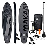 ECD Germany Tabla Hinchable Makani Paddle Surf/Sup 320 x 82 x 15 cm Negro Stand...