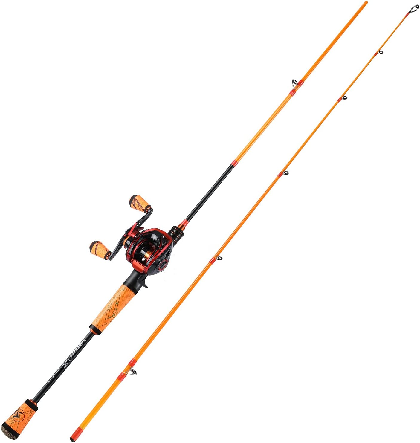 One Bass Fishing Rod and Reel Baitcasting Fast Super beauty product restock quality top! Combo Com Medium Soldering