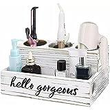 Organizador de herramientas para el cabello de madera, soporte para secador de pelo, soporte para plancha plana, herramientas para peinar el cabello, organizador de encimera de tocador de baño