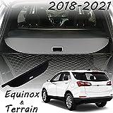 CARORMOKE Retractable Cargo Cover Privacy Shade Trunk Cover Shield 2020 Black Compatible with GMC Terrain 2018 2019 Chevrolet Equinox