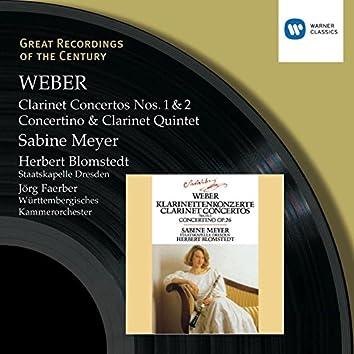 Weber : Clarinet Concertos 1 & 2/Concertino in E flat/Clarinet Quintet