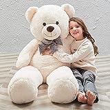 MaoGoLan MorisMos 47 inch Giant Teddy Bear Stuffed Animals Plush Cute Soft Toys Teddy Bear for Girl Children Girlfriend Valentine's Day White 1.2M