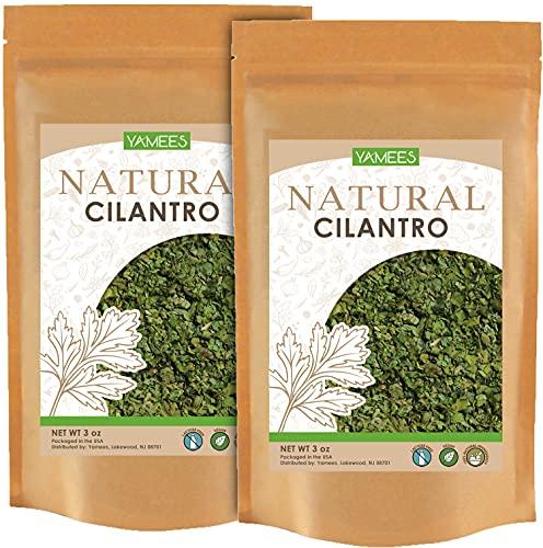 Yamees Cilantro - 6 Oz (3 Oz Each) – Cilantro Seasoning – Dry Cilantro Leaves – Cilantro Herb...