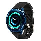 Fit-power - Correa de repuesto para reloj inteligente, de 20 mm, compatible con Samsung Gear Sport, Samsung Gear S2 Classic, Huawei Watch 2 Watch y Garmin Vivoactive 3, negro