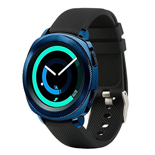 Fit-power - smartwatch-reservearmband, 20 mm, voor Samsung Gear Sport/Samsung Gear S2 Classic/Huawei Watch 2 Watch/Garmin Vivoactive 3 / Garmin Vivomove HR, zwart