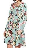 JollieLovin Women's Pockets Short Sleeve Casual Swing Loose Dress