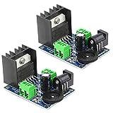 Haudang TDA7297 Amplificador de potencia de audio digital de doble canal módulo de entrada de potencia 4-8 Ohms 10-50 W altavoces convertidor de módulo amplificador de audio