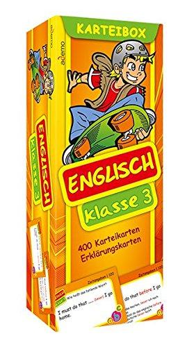 Karteibox Englisch Klasse 3: mit farbigen Karteikarten