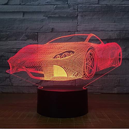 Enfants Cadeau 7 Couleurs Touch Control Night Lights Créatif Cadeaux D'anniversaire Personnalisé En Gros Drop Shipping 3D Lampe Sport 3D Voiture Led Lumière
