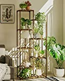 Tall Plant Stands Indoor Outdoor, 8 Tiers 9 Potted Larger Wood Plant Shelf, Gardening Plant Stands for Multiple Plants,Plant Table for Patio Garden, Living Room, Corner Balcony and Bedroom