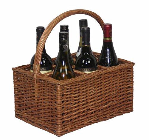 Double Steamer 6 Bottle Holder Drinks Basket