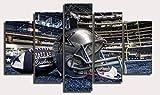 Thznmg Impression sur Toile 5 Parties 200X100 Cm/ 78.8'X 39.4'Premium Art Toile Imprimé Mur Art Affiche 5 Pièces / 5 Panneaux Peinture Murale, Décor À La Maison Photos Sport Rugby Casque Athlétique