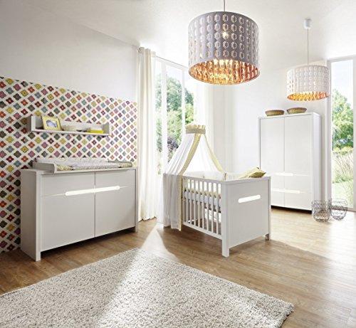 Schardt 11 941 52 02 complet Chambre Poppy White, décor, blanc 70 x 140 cm