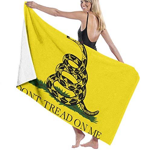 Gadsden Flag Toallas de Playa Unisex Toallas de baño para Adolescentes y Adultos 31 x 51 Pulgadas